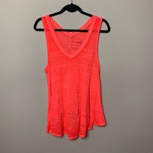 We the Free Coral V Neck Swing Tank Top